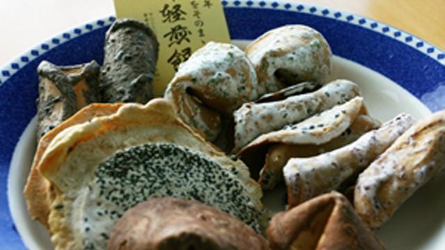 5枚で100円 懐かしの「津川煎餅店」