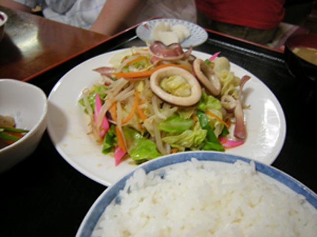 「いか野菜炒め定食」