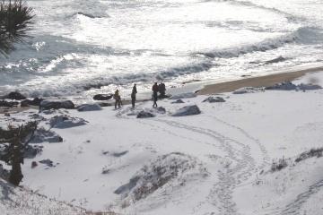 厳しくも美しい自然のチカラ ~冬の大須賀海岸