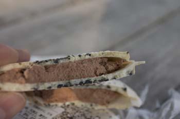 「南部煎餅」と「アイス」