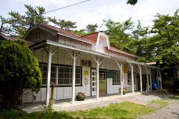 芦野公園駅「驛舎」の馬まん