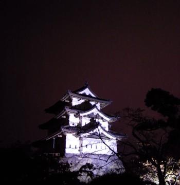 弘前城のライトアップ