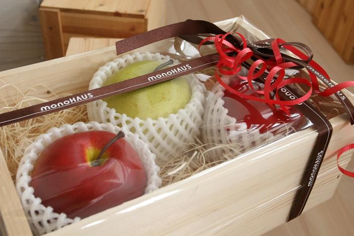りんごの町で、りんごの木箱づくり体験