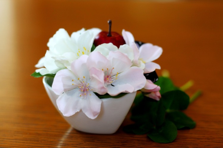 「りんごの花」のアーティフィシャルフラワー