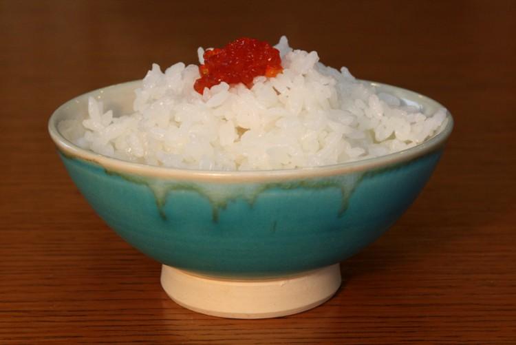 「青天の霹靂」カラーのごはん茶碗「ばんりゅう焼」