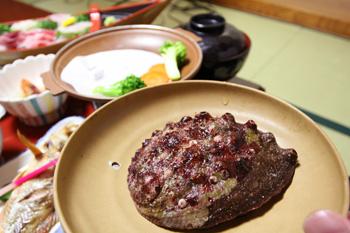 不老ふ死温泉で久六島の魚介三昧6