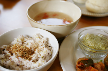 雑穀cafe小粒でランチ会2