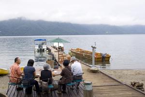十和田湖の素敵なランチタイム3