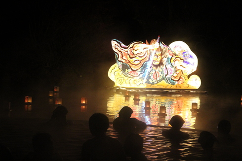青森の温泉とねぶたと食材の共演