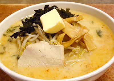 青森味噌カレー牛乳ラーメン ハーフ1