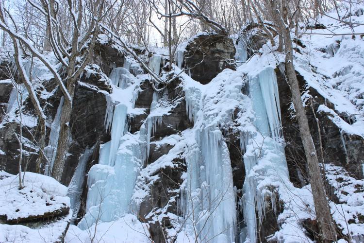 奥入瀬渓流 馬門岩 氷瀑