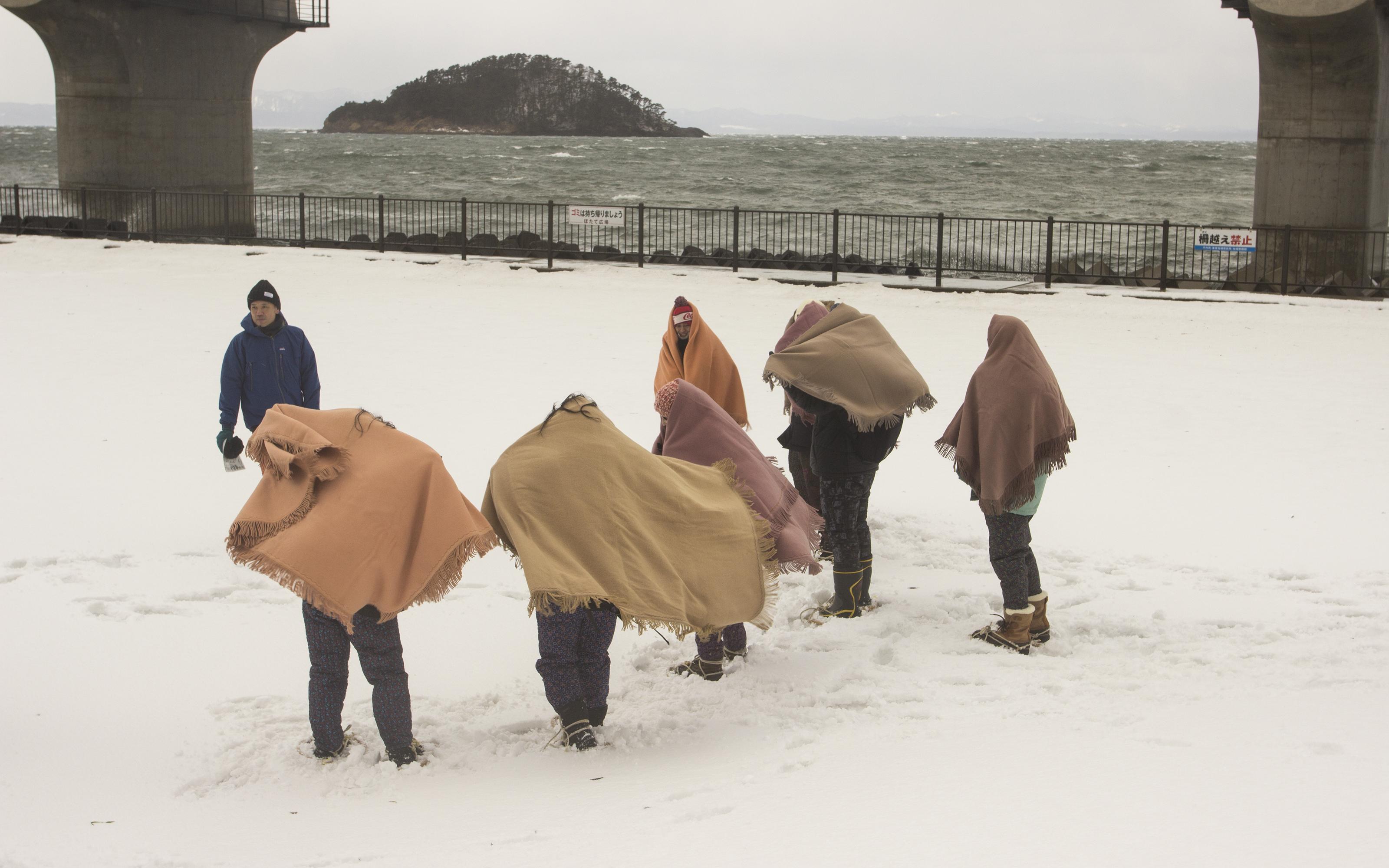平内地吹雪体験