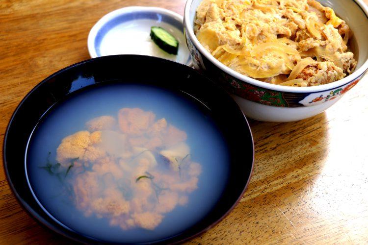 いちご煮とカツ丼