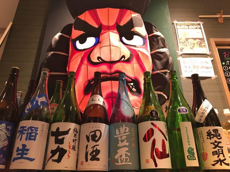 ねぶた面と県内の銘酒