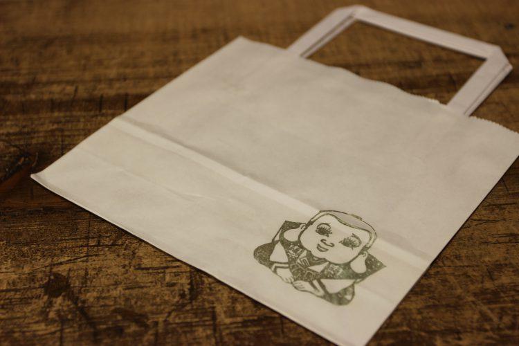 三ノ月舎紙袋の福助スタンプ