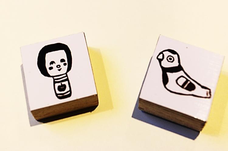 tasogaretyu-さん作こけしと鳩笛