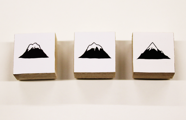 3種類、観測地点違いの岩木山