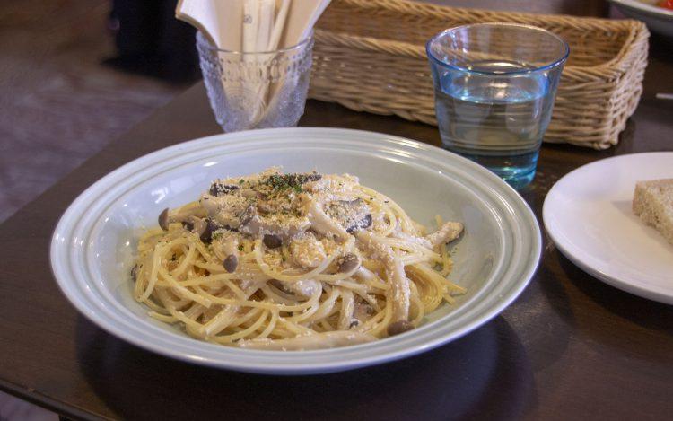 farm cafe orta_ortaランチセット_真タラコとキノコの豆乳クリームソース