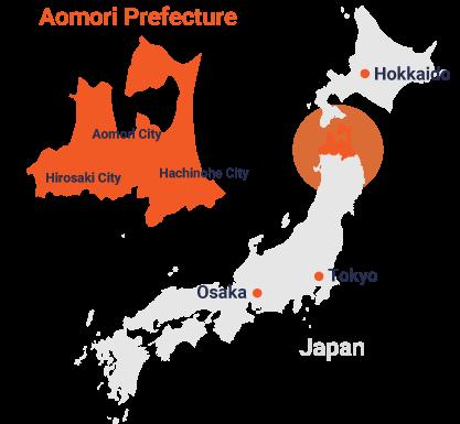 Location of Aomori Prefecture