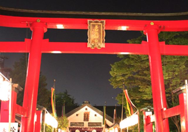 善知鳥神社の宵宮でお清め