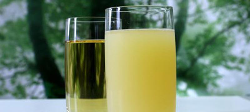 おいしいりんごジュース 「混濁」と「透明」
