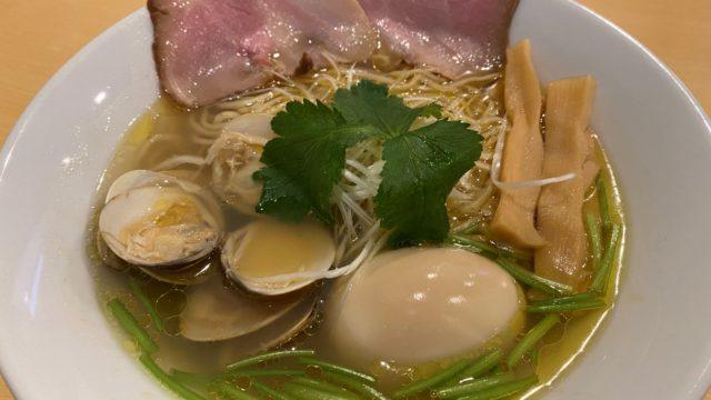 蛤塩そば(味玉トッピング) 1,080円